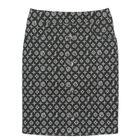 กระโปรงแฟชั่น-ทำงาน Side Span and H-Line Button Skirt ผ้าญี่ปุ่นพิมพ์ลายกราฟฟิคพื้นดำ