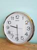 Seiko นาฬิกาแขวนฝาผนัง ขนาด 14 นิ้ว ขอบเงิน สำหรับสำนักงาน PAA020S