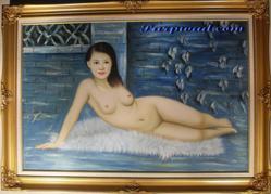 """ภาพวาดสีน้ำมัน ขนาด24*36"""" พร้อมกรอบ ราคา 3,600 บาท"""