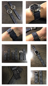 Watch Strap LV Damier graphite Collectors.