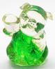 หมูถือก้อนทองเรซิ่นใสเขียว 3.5