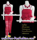 ชุดลายดอก ชุดย้อนยุค ชุดทองกวาว ชุดมนต์รักลูกทุ่ง ธีมงานวัด เสื้อ + กางเกง สีสวยสดใสมากๆ ค่ะ (อก 30 นิ้ว / เอว 34 นิ้ว) (ดูไซส์ส่วนอื่น คลิ๊กค่ะ)