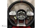 พวงมาลัยสีดำ หนัง Nappa เย็บด้ายแดง คาดสีแดงที่12นาฬิกา ก้าน AMG ปุ่ม Race Display ซ้าย/ขวา