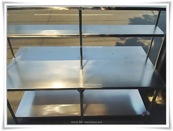 โต๊ะเตรียม 2 ชั้น มีชั้นลอย
