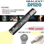 ไฟฉาย Imalent DM20 แสงเหลือง USB ชาร์จในตัว