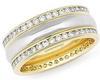 แหวนเพชรแท้ 2 แถวเรียง  1.60 ct. (80) ทอง 90% /ทองคำขาว