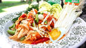 NO. SS36 ส้มตำเห็ดทะเลไข่เค็ม (Papaya salad with Mushroom and salted yolk)
