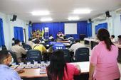 ประชุมกำนันผู้ใหญ่บ้าน ผู้นำชุมชน ประจำเดือน มิถุนายน 2563