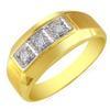 แหวนเพชรกษรแถวเดี่ยว ทอง 90% เพชร 0.15 กะรัต (3 เม็ด)