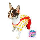 ชุดน้องหมา น้องแมว Yes! ชุดเอี๊ยมเป็ด คอกลมกางเกงแดง ขนาด Size1-6*10*8 นิ้ว