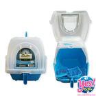 ห้องน้ำแมว สีฟ้า ยี่ห้อ Dr.LEE กว้าง 15.5 นิ้ว ยาว 19 นิ้ว สูง 16 นิ้ว