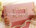 การ์ดแต่งงาน แบบสอดไส้ สีชมพู รหัส 9-0021