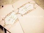 K'ปุ้ย&เป็ก การ์ดแต่งงานสีชมพูสองพับ 500 ชุด