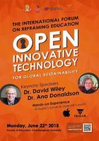 งาน The International Forum on Reframing Education : Open Innovative Technology for Global Sustainability