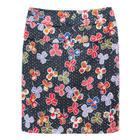 กระโปรงแฟชั่น กระโปรงทำงาน Two Round Belt Skirt ผ้าคอตต้อนญี่ปุ่นพิมพ์ลายดอกไม้หลากสี
