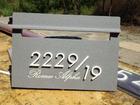 ตู้รับจดหมายแบบฝังกำแพงหินทรายเทียม