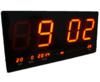 GooAB Shop นาฬิกา LED ติดฝาผนัง แบบบาง ตัวเลข 4 นิ้ว ขนาด 18 นิ้ว ไฟสีแดง JH4622-4