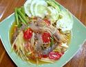 NO. SS18 ส้มตำกุ้งสด (Papaya salad with shrimp)