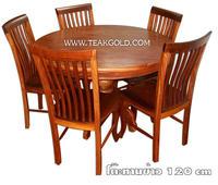 โต๊ะทานข้าวไม้มะค่า