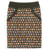 กระโปรงแฟชั่น มีกระเป๋า Pocket Contain Botton Point Skirt ผ้าคอตต้อนญี่ปุ่นผสมสเป็นเด็กพิมพ์ลายดอกไม้สีสันสดใส