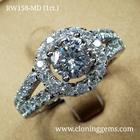 แหวนเพชร 1 กะรัต เกรด7A คัดพิเศษเพชรเจียระไน100เหลี่ยม ตัวเรือนดีไซน์ยุโรป สวยหรูทันสมัย ตัวเรือนเงินแท้ 92.5% ชุบทองคำขาว
