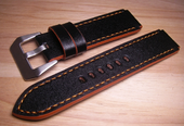 Strap For Seiko Monster and Sumo.Calf Black Color.