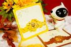 การ์ดแต่งงาน แบบพิเศษ สีเหลือง รหัส W 19-1