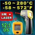 ปืนวัดอุณหภูมิอินฟาเรดช่วงการวัด - 50 ถึง 280 องศาเซลเซียศ