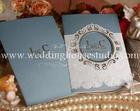 การ์ดแต่งงานการ์ดแบบสอดสีฟ้ารหัส29-0026