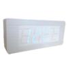 นาฬิกาตั้งโต๊ะ ลายไม้ขาว แบบบาง รุ่น W6016 (ไฟสีฟ้า)