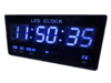 GooAB Shop นาฬิกา LED ติดฝาผนัง แบบบาง ตัวเลข 3 นิ้ว ขนาด 18 นิ้ว ไฟสีฟ้า JH4622