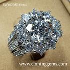 แหวนเพชร 4 กะรัต เกรด7A คัดพิเศษเพชรเจียระไน100เหลี่ยม ตัวเรือนดีไซน์อิตาลี สวยหรูทันสมัย ตัวเรือนเงินแท้ 92.5% ชุบทองคำขาว