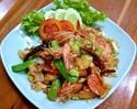 NO. SF09 สะตอผัดกะปิกุ้ง (Stir-fried with sato and shrimp paste)
