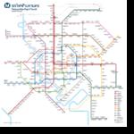 แผนที่เส้นทางรถไฟฟ้าทั้งระบบ