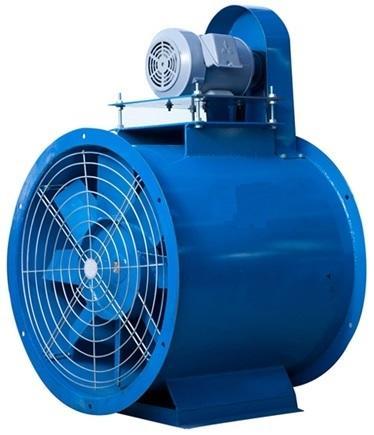 พัดลมถังกลมแบบขับสายพาน (Axial Fan : Belt Drive)