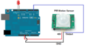 Arduino กับ PIR Motion sensor