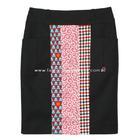 กระโปรงแฟชั่นทรงสอบ กระโปรงทำงาน Pockets Line Incision Skirt ผ้าญี่ปุ่นผสมสเปนเด็กสีดำ ผ้าเนื้อดีค่ะ