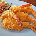 NO. DF22 กุ้งชุบแป้งทอด (Batter-fried prawns)