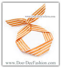 ผ้าคาดผมหูกระต่าย โครงลวดดัดคาดผม ผ้าคาดผมลวดดัด Ribbon Bunny wire headband (ผ้าคาดผมสีส้ม,ผ้าคาดผมสีเหลือง) (ดูไซส์ คลิ๊กค่ะ)