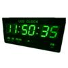 GooAB Shop นาฬิกา LED ติดฝาผนัง แบบบาง ขนาด 18 นิ้ว (ไฟสีเขียว) JH4622