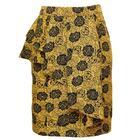 กระโปรงแฟชั่น กระโปรงทำงาน Ethnic Shirring Rose Flower Skirt กระโปรงสีเหลืองมาสตาส {งานตัดเย็บคุณภาพ}