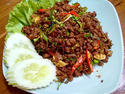 NO. SF13 หมูระเบิด (Spicy fried minced pork with herb)