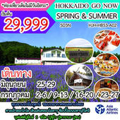 HOKKAIDO GO NOW SPRING & SUMMER  เดินทาง กรกฏาคม - สิงหาคม 2560