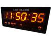 GooAB Shop นาฬิกา LED ติดฝาผนัง แบบบาง ตัวเลข 3 นิ้ว ขนาด 18 นิ้ว ไฟสีแดง JH4622