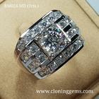 แหวนเพชร 2 กะรัต เกรด7A คัดพิเศษเพชรเจียระไน100เหลี่ยม ตัวเรือนดีไซน์ยุโรป สวยหรูทันสมัย ตัวเรือนเงินแท้ 92.5%ชุบทองคำขาว