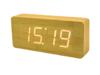 White LED Wood Clock  : นาฬิกา LED สีขาว ลายไม้ สวยงาม คลาสสิก เหมาะสำหรับตกแต่งห้อง ห้องนั่งเล่น ห้องนอน