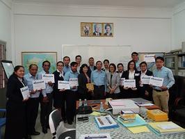 PEA ENCOM นำคณะวิทยากรอบรม ให้พนักงานจากการไฟฟ้าราชอาณาจักรกัมพูชา ( Elecrticite du Cambodge : EDC) ณ กรุงพนมเปญ ราชอาณาจักรกัมพูชา