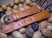 Strap For Omega Watch.Croco Tan Color.