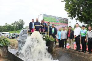 เปิดโครงการเชื่อมต่อท่อส่งน้ำชลประทานระบบท่อ