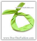 ผ้าคาดผมหูกระต่าย โครงลวดดัดคาดผม ผ้าคาดผมลวดดัด Ribbon Bunny wire headband (ผ้าคาดผมสีเขียว,ผ้าคาดผมสีเหลือง) (ดูไซส์ คลิ๊กค่ะ)